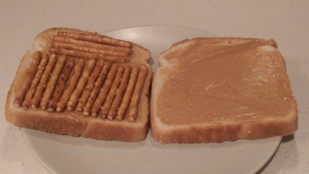 Peanut Butter And Pretzel Sandwich