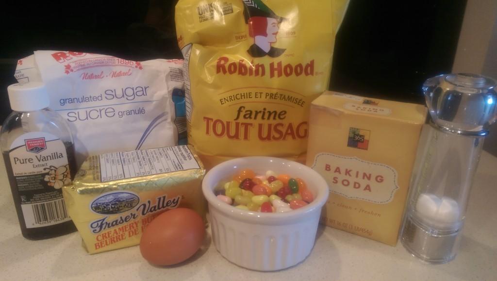 Jelly Bean Cookies Ingredients