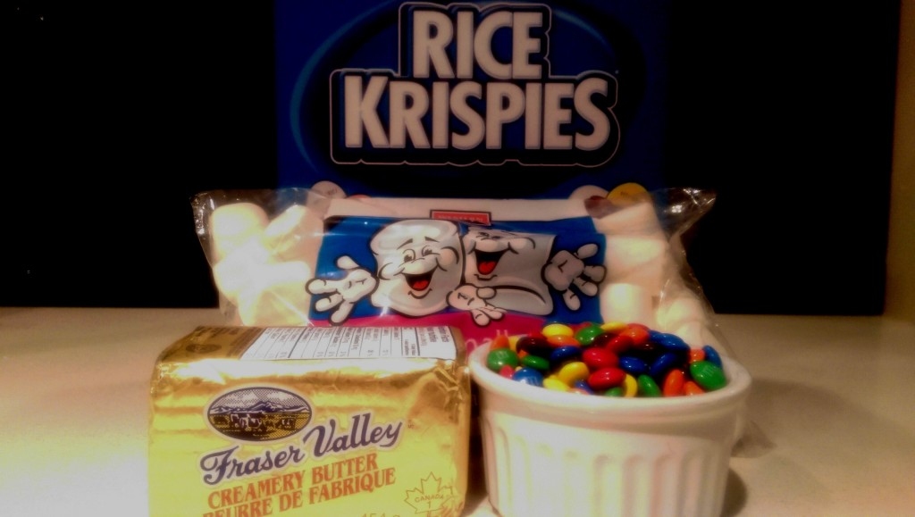M&M Rice Krispie Squares Ingredients