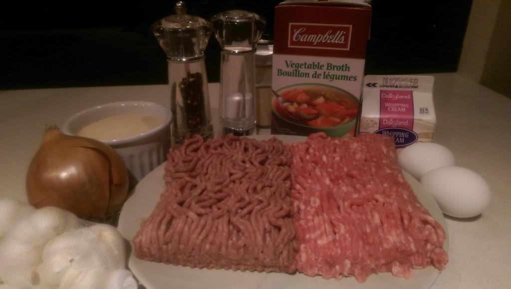 Patty's Swedish Meatballs Ingredients