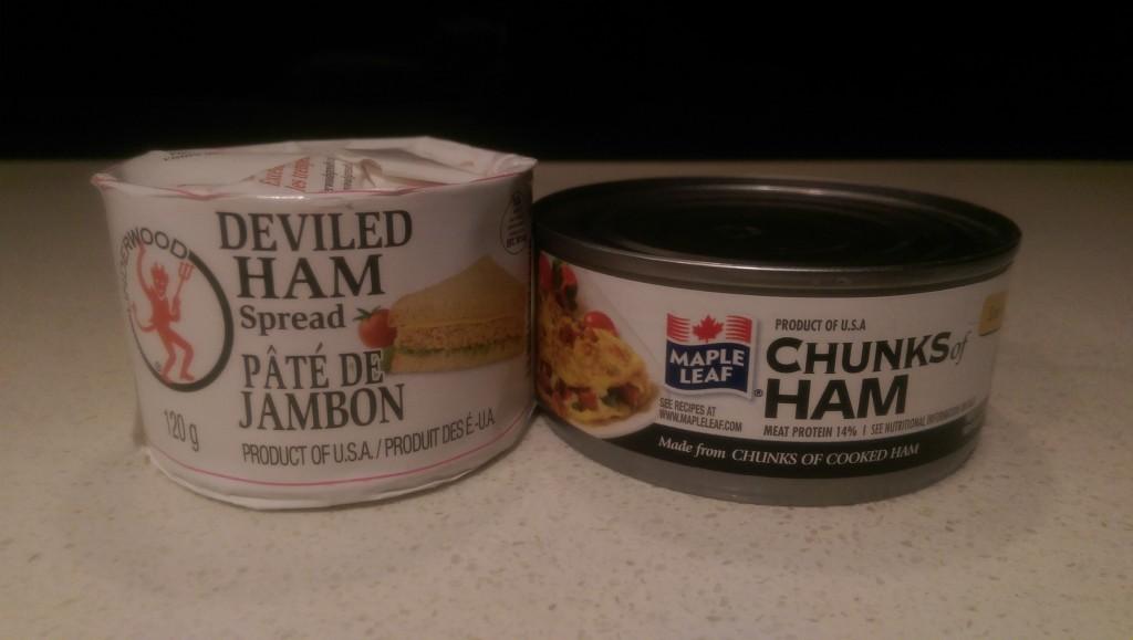 Regular Ham vs. Deviled Ham