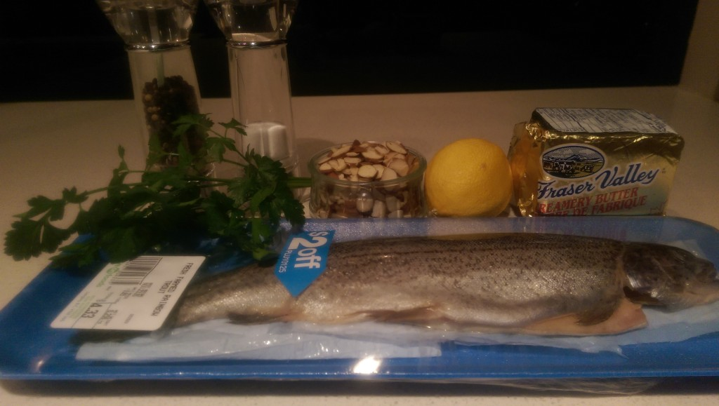 Selma's Trout Almondine Ingredients