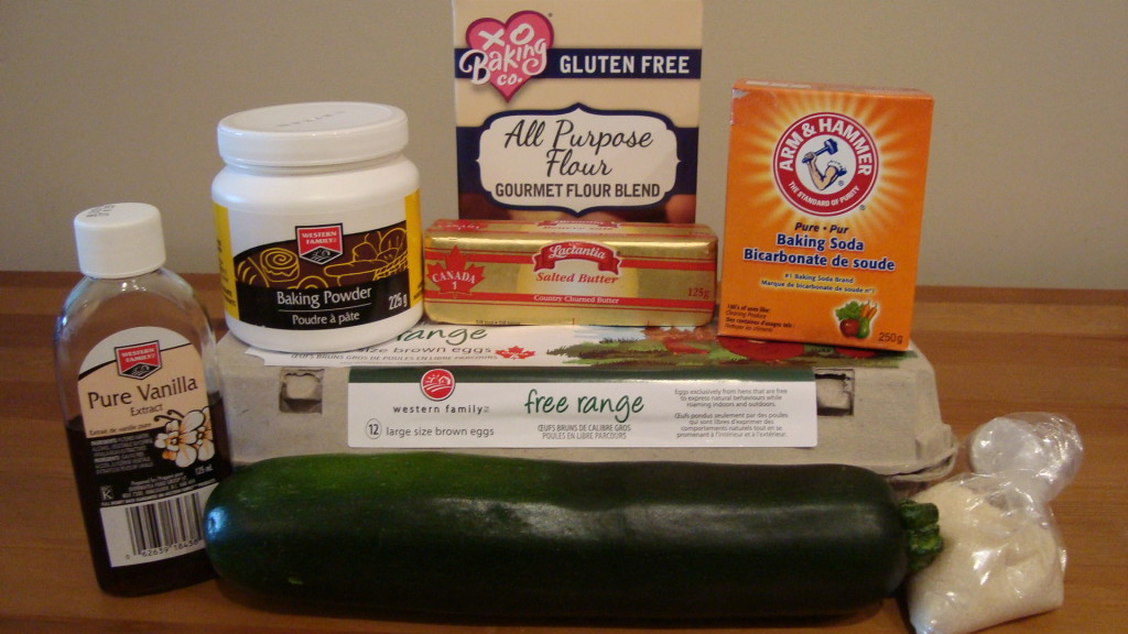 Homemade, Organic, Non-gluten, Fair-trade Zucchini Cupcakes Ingredients