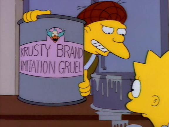 Krusty Brand Imitation Gruel Screenshot 1