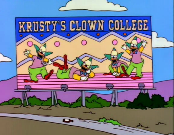 Krusty's Clown College Screenshot