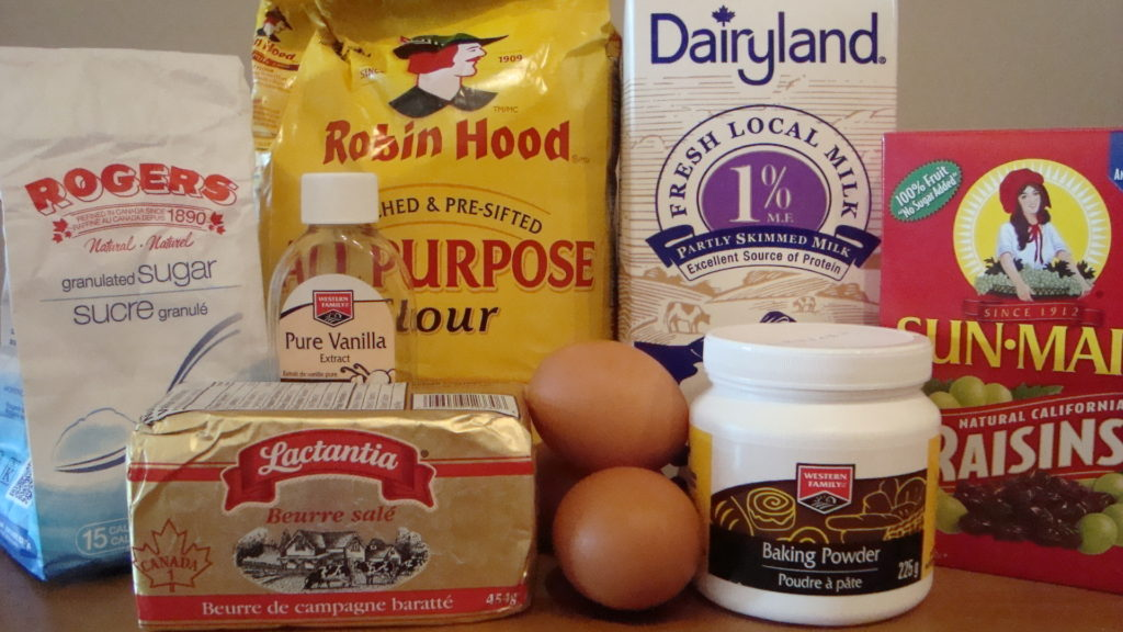 Raisin Sponge Cake Ingredients