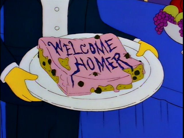 Welcome Homer Cake Screenshot