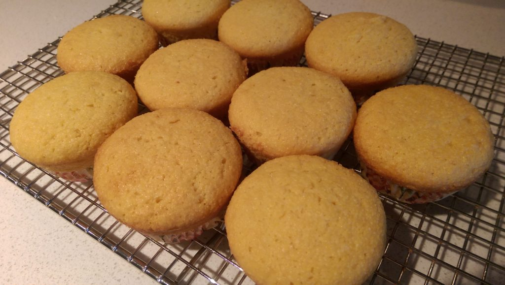 Plate of Corn Muffins