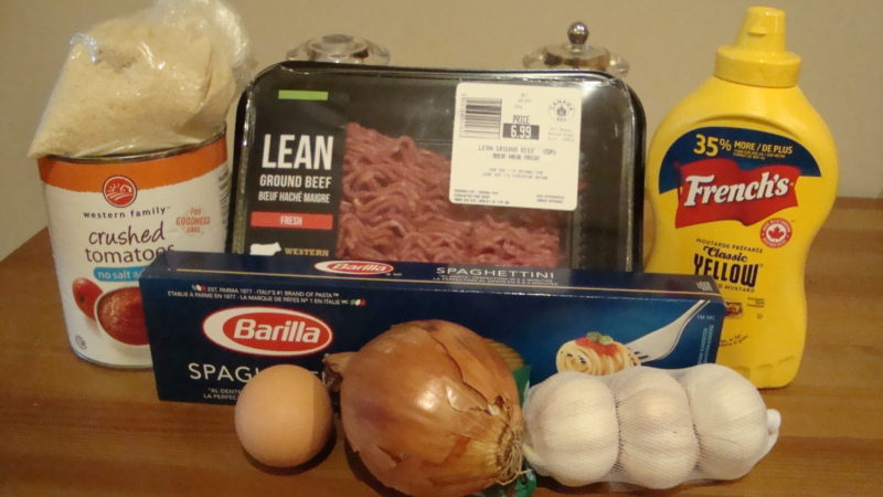 Spaghetti and Moe-Balls Ingredients