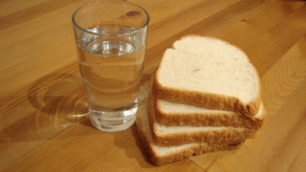 Plain Bread with Dippin Water
