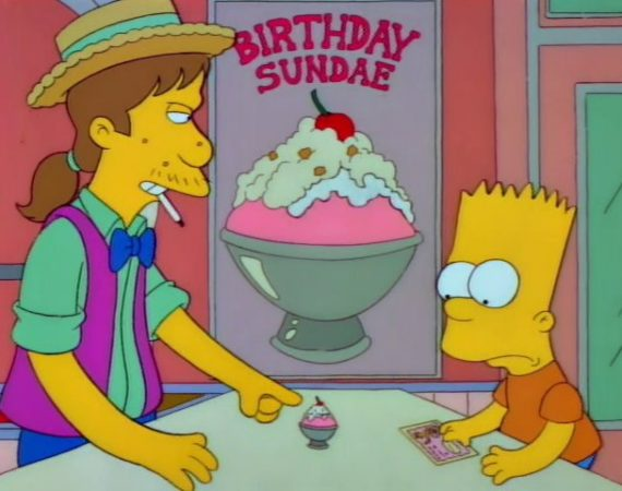 Appropriate Sized Birthday Sundae