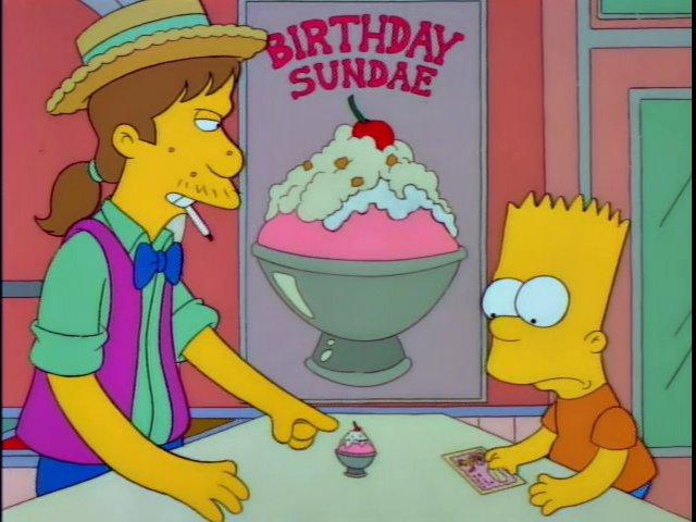 Appropriate Sized Birthday Sundae