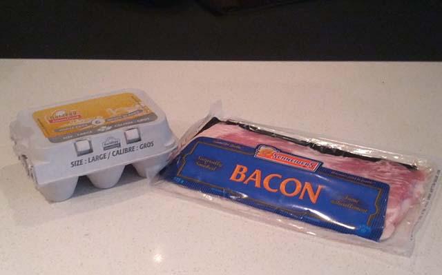 Bacon Day Breakfast Ingredients
