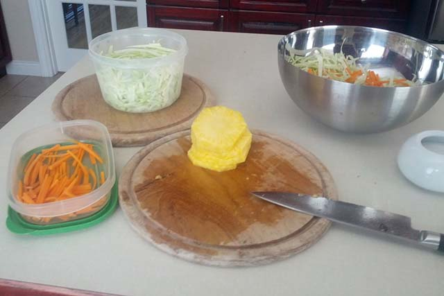 Coleslaw with Pineapple Ingredients