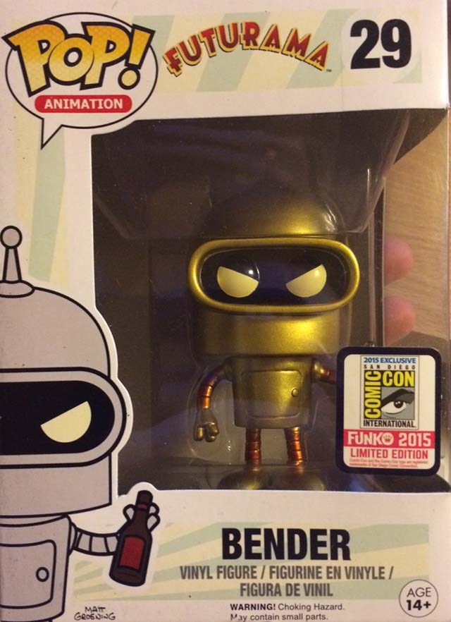 Golden Bender Funko Pop