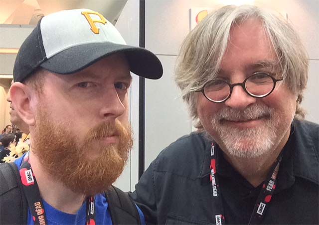 Jeff with Matt Groening 2