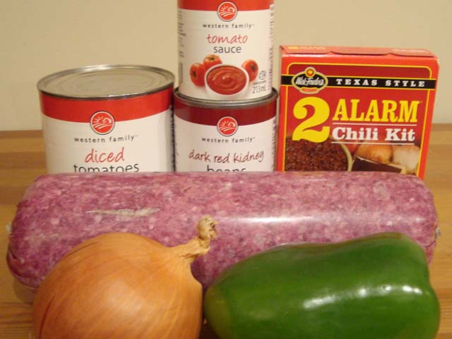 "Ned's ""Five Alarm"" Chili Ingredients"