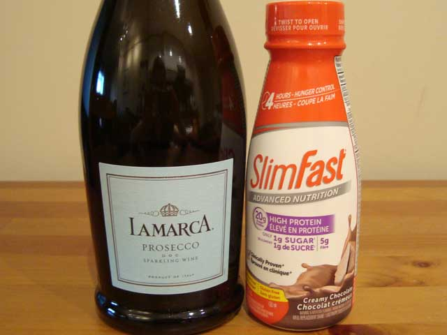 Champagne-and-Slim-Fast-Ingredients